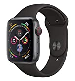 Apple Watch Series 4 Aluminium Cellular Space-Grey Black, Sport Band, MTVU2FD/A, 44mm