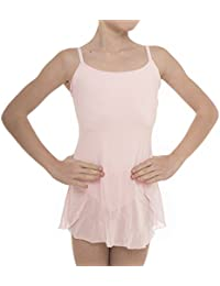 Danceconnexxion Ballet Dress with Attached Chiffon Skirt and Adjustable Straps for Girl (Mulberry, 10 – 12 Years (Large))