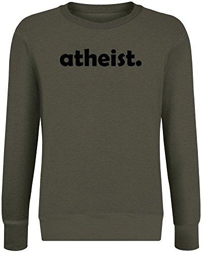 Atheist Sweatshirt Jumper Pullover for Men & Women Soft Cotton & Polyester Blend Unisex Clothing XX-Large