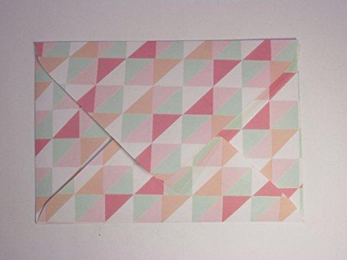 """Briefumschläge 10er Set """"Geometrie"""""""