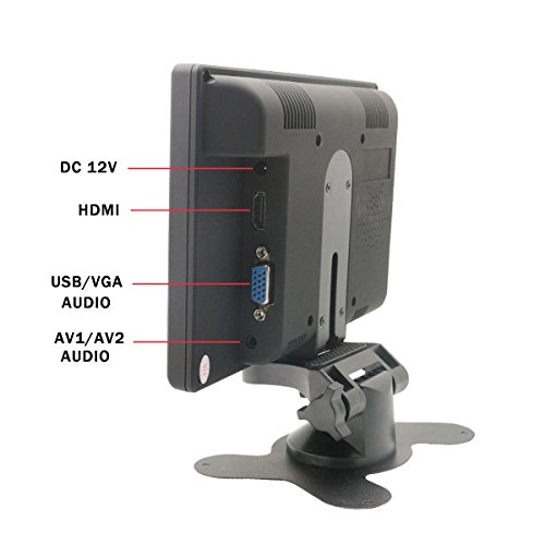 Sourcingbay TFT Color LCD 7 inch vehicle PC Monitor aid Rotating The television screen by means of HDMI VGA AV key in Monitors