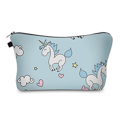 Estee Lauder Tasche (Bonamana Einhorn Flamingo Muster Große Kapazität Bleistift Tasche Kulturbeutel Kosmetik Make-up Tasche Tasche Organizer für Reise (Einhorn-C))