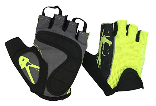 Handschuhe Aus Synthetischem Gummi (Bwiv Unisex Fahrradhandschuhe für Männer und Frauen Mountainbike Handschuhe für Radsport Gymnastik Training Bodybuilding One Pair Grün L)