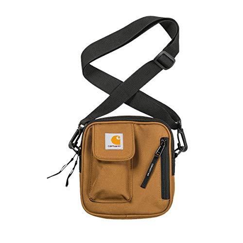 Carhartt WIP Essentials Bag Small Damen und Herren Unisex Gürteltasche Schultertasche Brusttaschen Damen und Herren Daypack Militär Sporttasche Umhängetasche Braun 3556