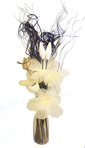 Crema de Choc NETLON ramo de orgánico hecho a mano flores y Indian Dried grasses. aprox. 78cm tall. jarrón No Incluidas