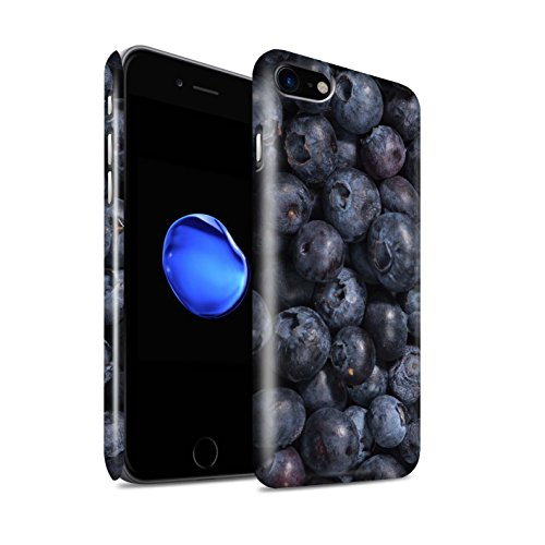 STUFF4 Glanz Snap-On Hülle / Case für Apple iPhone 8 / Melone Muster / Saftige Frucht Kollektion Blaubeere