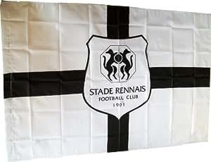 Drapeau officiel STADE RENNAIS - Rennes Football Club - Ligue 1 - 150 x 100cm