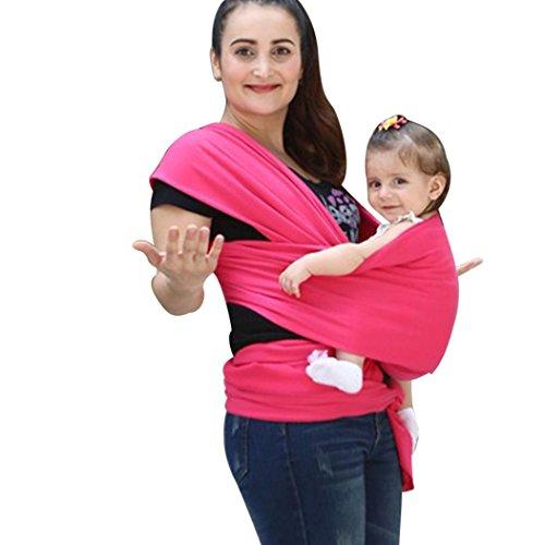 VENMO Baby Wrap Sling Neugeborene Stretchy Kleinkind Stillende Tasche Breathable Designer Stilltuch für diskretes Stillen Stillschal Marienkäfer Einheitsgröße mit Tasche Nursing Cover (Hot Pink) (Geraffte Wrap)