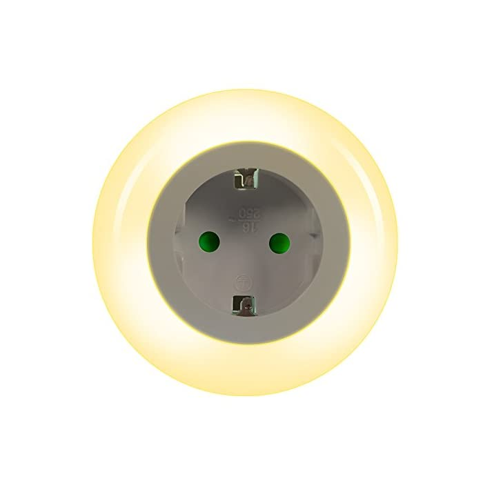 Emotionlite LED Steckdose Nachtlicht mit Dämmerungssensor Nachtlampe Kinder Schützen Steckdose Orientierungslicht…