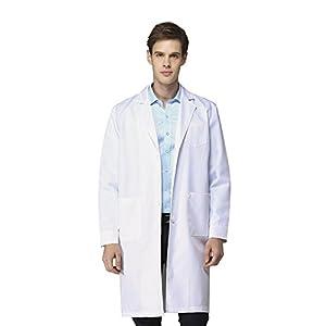 Icertag Camice Bianco da Laboratorio Medico Lavoro da Unisex Uomo Donna qualità Superiore 1 spesavip