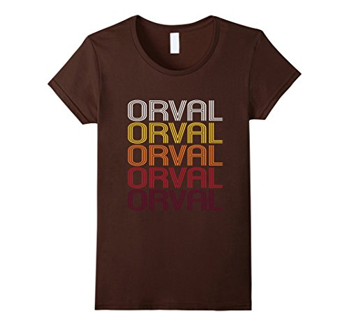 womens-orval-retro-wordmark-pattern-vintage-style-t-shirt-xl-brown