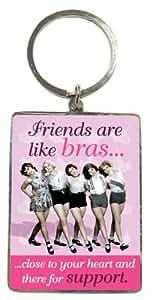 Generic Friends Are Like Bras Metallic Keyring - Gift Idea