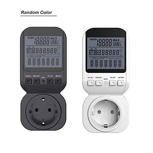 Presa per la rilevazione della potenza - misuratore di potenza per watt di energia con spina di monitoraggio dell'energia elettrica misuratore di potenza con display lcd digitale, per il risparmio ene