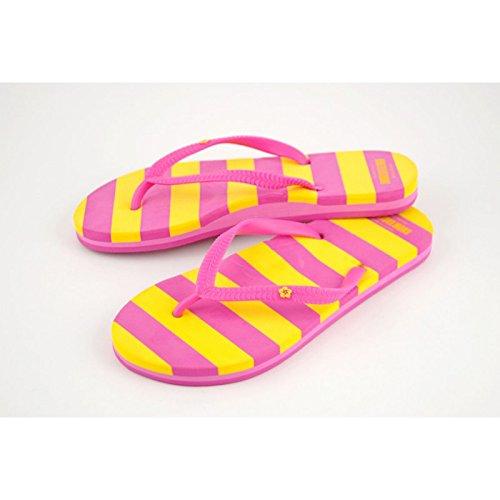 Donna Flip Flops, disponibile in diversi colori - pink/gelb