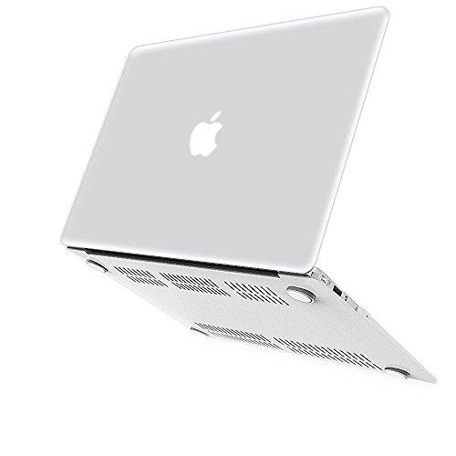 """iBenzer - copertura in plastica duro di serie Soft-Skin per 11"""" MacBook Air da 11,6"""" (A1370/A1465) Nessun CD-ROM, Chiara MMA11CL"""
