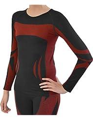Sport Funktionswäsche Damen Langarm Hemd Seamless von normani - Ski-, Thermo- & Funktionsshirt ohne störende Nähte mit Elasthan in versch. Farben