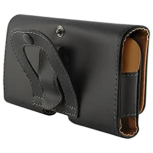 Cubix® Case for Lumia 620 Leather Holster Carry Case Cover Pouch with Belt Clip Case for Nokia Lumia 620 - Black