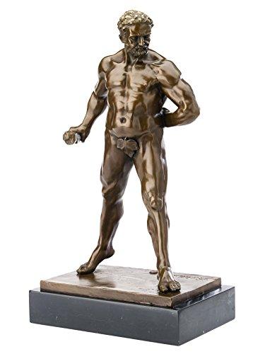 Bronze Herkules 47cm Herakles Bronzefigur Bronzeskulptur antik Stil sculpture
