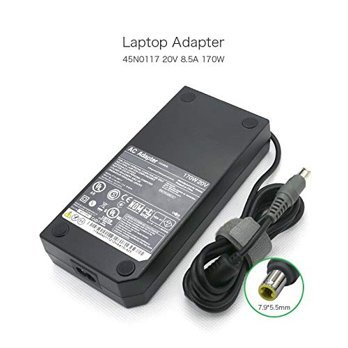 szhyon 170W Laptop Charger 20V 8.5A 7.9 * 5.5mm Power Adapter compatible with Lenovo W520 W530 W700 W701 45N0117 Notebook -