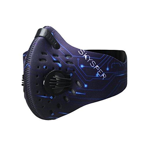 LIBEYE Trainingsmaske Staubschutzmasken Feinstaub Atemschutzmasken Sport Mundschutzmaske Training Radfahren Staubmaske mit Filter PM 2.5
