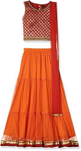 TWISHA Girls' Regular Fit Ghagra Choli (AW17-XP-GCH144-8yr_Red)