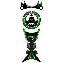 Kit Stickers paraserbatoio–Protección tapón–Protección placa horquilla KAWASAKI Z750| Kawasaki Sticker Protector gp-167 Verde oscuro
