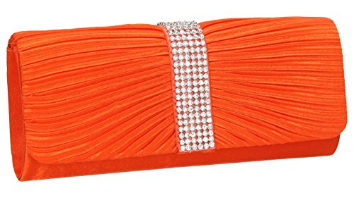 SwankySwansJane Satin Diamante - Sacchetto donna (arancione)