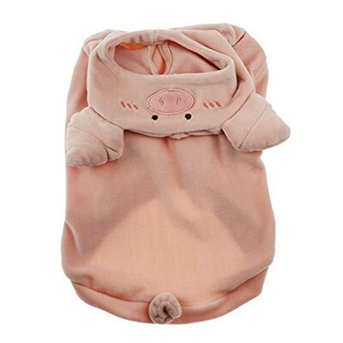Hundehoodies Haustier-Welpen-Hunde-Bekleidung Schwein Cosplay Kostüme Kleidung for kleine Große Hund Katze Französisch Bulldog Mops Haustiere Mantel-Rosa L (Color : Pink, Size : (Schwein Kostüm Für Große Hunde)