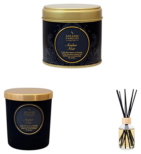 YES Ja Shearer Candles Ultimate Home Duft Collection-Amber Noir, Wachs, schwarz, 26x 28x 11cm (Tuberose-wachs)