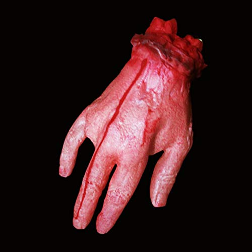 Peanutaod Halloween Blutungen Scary Cut Off Bloody Fake Latex Leichenteile Haunted Halloween Kostüm Party OrnamentSmall Blood Hand