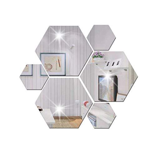 7st 3D Modern Spiegel Geometrisch Hexagon Acryl Wand Aufkleber Dekor Kunst Zuhause Dekoration DIY (größe : 230 * 200 * 115mm)