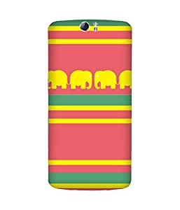 Stripes And Elephant Print (6) Oppo N1 Case