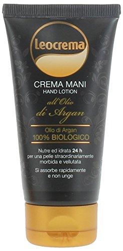 Leocrema Hand Cream with 100% Organic Argan Oil - Strong anti-aging effect - slowing skin aging! Provides 24-hour deep hydration! 75ml