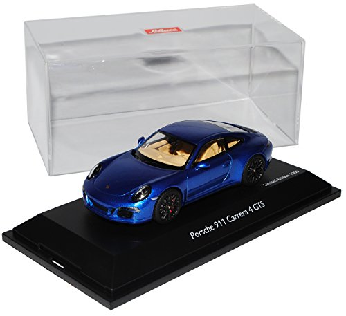 Schuco Porsche 911 991 Carrera 4 GTS Coupe Saphir Blau Ab 2011 1/43 Modell Auto mit individiuellem Wunschkennzeichen