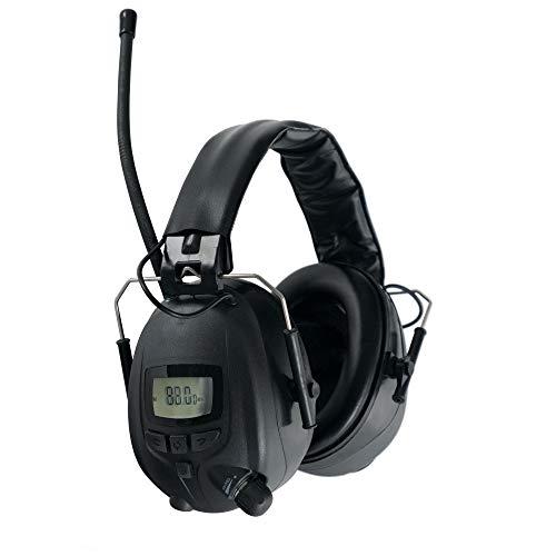Stagecaptain ContraNoise FM-28B Kapselgehörschützer (Gehörschutz Kopfhörer mit Bluetooth, 28 dB Dämpfung, für Musiker und Arbeiter in lauter Umgebung, schützt perfekt vor Lärm, mit Radio) schwarz -