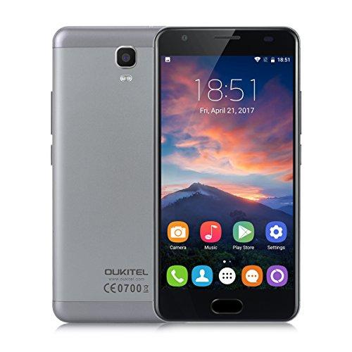 OUKITEL K6000 Plus Smartphone 4G Android 7.0 (MT6750T Octa Core 1.5GHz, 5.5'' FHD Schermo, 4GB RAM 64GB ROM, 8MP+16MP Camera, Fingerprint ID, Dual SIM, Batteria 6080mAh)