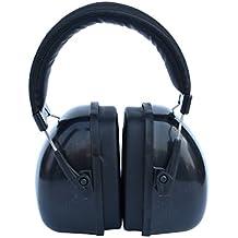 Baoblaze Audífono Insonorizado Auricular Orejeras Protector Contra Ruido para Hombres Mujeres - Negro