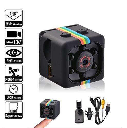 Mini videocamera HD, caricabatteria per telecamera spia, sensore di movimento 1080P Telecamera per visione notturna DVR per moto Videocamera micro sport DV videocamera piccola videocamera, sport DV