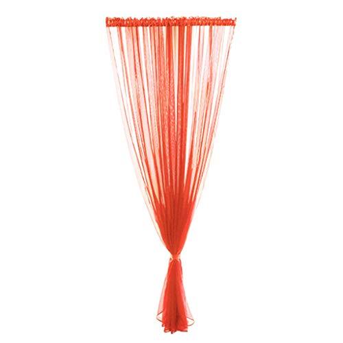 Xmiral Türvorhang Einfarbig Tüll Transparent Dekoration Gardine Mit Stangenloch 200cmx100cm Für Kinderzimmer Wohnzimmer Schlafzimmer Mehrere Farben erhältlich(H)