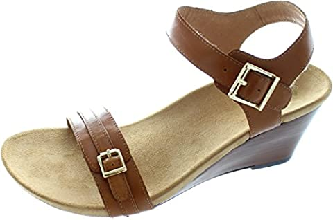 Vionic Womens 382 Laurie Brown Leather Sandals 39 EU