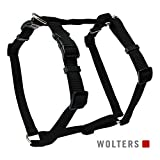 Wolters Geschirr Basic Schwarz S-XL - Hundegeschirr, Format:75-100 cm x 25 mm