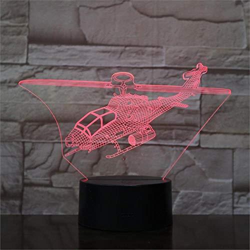 Flugzeug Kampfjet 3D Nachtlichter Tischlampe Multi Farben Militär Jet Flugzeuge mit USB Power Dekor Geschenk Farbe veränderbar Touch 7 Farbe veränderbar Farben Touch 7 Farbe uns -
