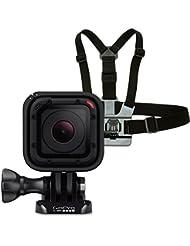 GoPro HERO Session Actionkamera (8 Megapixel, 38 mm, 38 mm, 36,4 mm) + GoPro Brustgurt Halterung (vertikale Schnellspannschnalle, Rändelschraube)