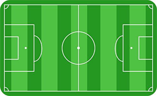 FRÜHSTÜCKSBRETTCHEN - FUSSBALLFELD - 23,3 x 14,3 cm, Fußballer Sportler Soccer Fußballspieler Jungen Mädchen kinder