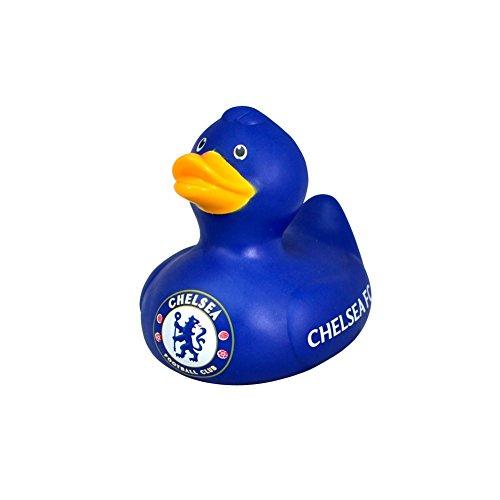 Badeente mit Fußballmanschafts-Wappen, offizieller Fußball-Fan-Artikel, verschiedene Mannschaften verfügbar Ideales Geschenk für jeden Fan Chelsea FC ca. 8 cm hoch und 10 cm breit