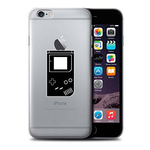 Stuff4 Hülle / Case für Apple iPhone 6 / Schwarz SNES Muster / Spielsteuerung Kollektion Schwarz Gameboy