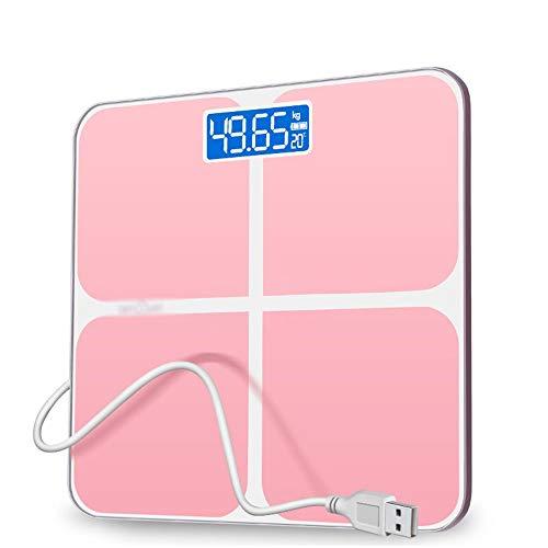 Elektronische Waage Präzisions-Körpergewichtswaage mit extra großem LCD-Display 180 kg / 400 lb Waage und Auftrittstechnologie Digitale Personenwaage (Farbe: Pink) Extra Großes Lcd-display