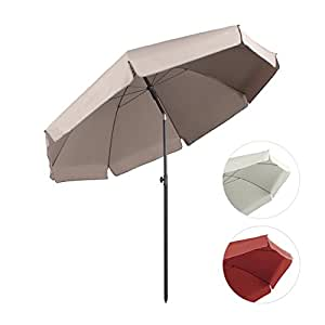 Sekey parasol 240 cm inclinable pour patio jardin for Sombrillas jardin amazon