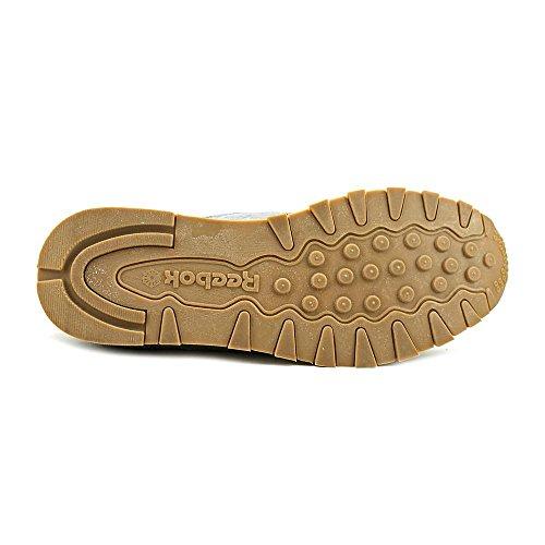 Reebok Cl Leather Cuir Chaussure de Tennis SHARK-BLACK-TINGREY-CHALK