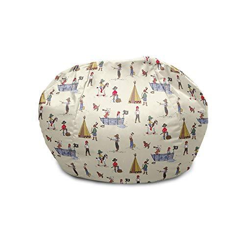 rucomfy Bean bags Belle & Boo Kinder-Sitzsack, Piratenspiele, klein